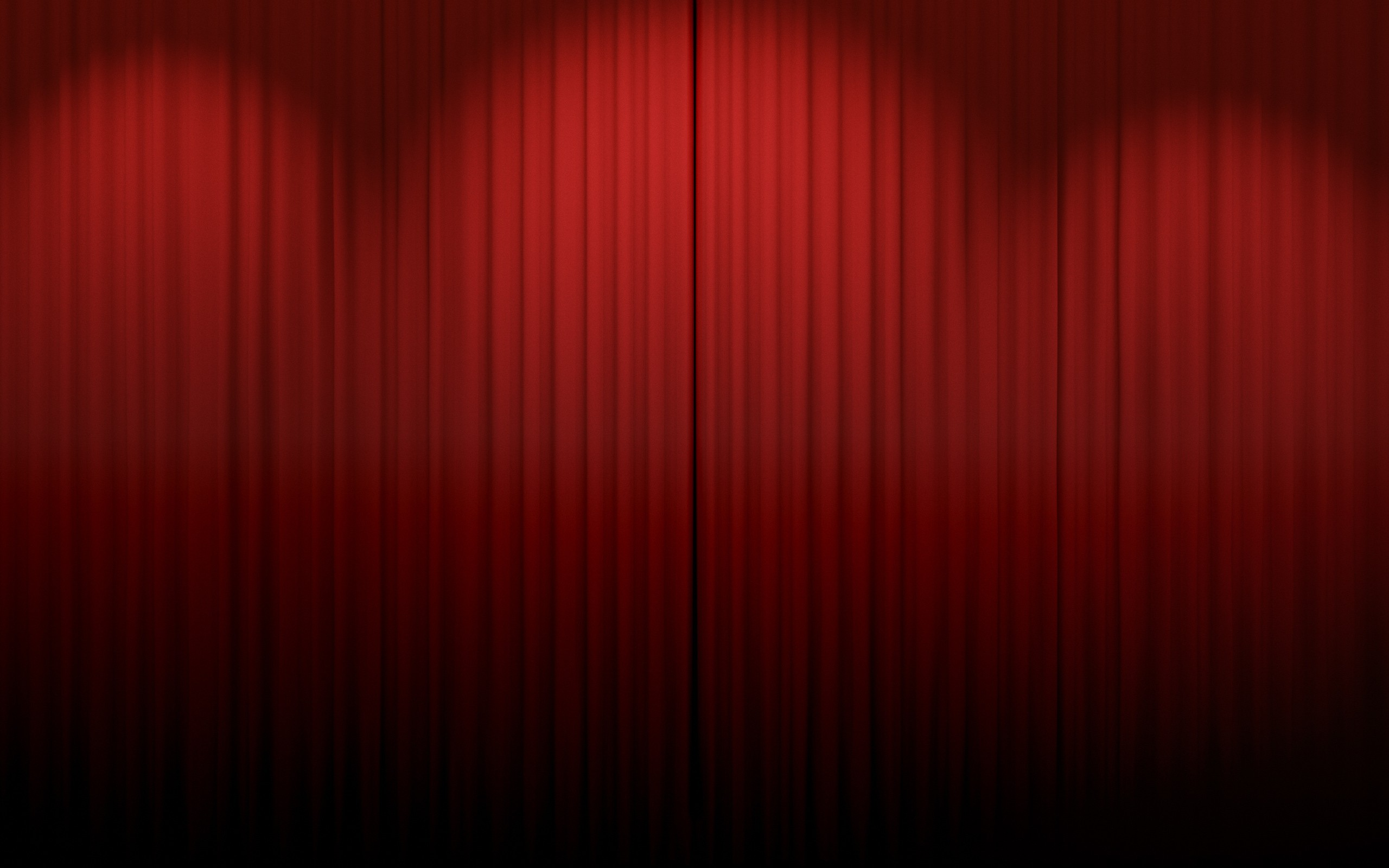 Closed theater curtains - Closed Red Curtains